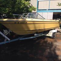 18' inboard boat & trailer