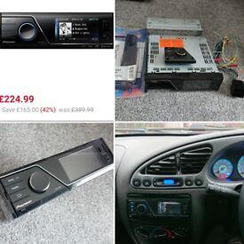 Pioneer car audio multimedia headunit mvh-8200bt fiesta puma escort all fittings SUPERB