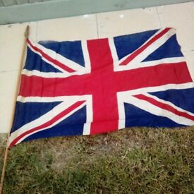 FLAG ORIGINAL WW2 ENGLAND FLAG (Collection Lansdown, Bath.)