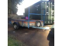 Trailer for sale, 5 1/2 foot x 7 foot single axle, electrics good, 3 new tyres, heavy duty font bar