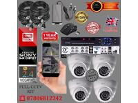 4 Cameras Full HD CCTV KIT, 8CH FULL HD XVR DVR, 4x 2.4MP Dome Cameras - 1 YEAR ADVANCE REPLACEMENT