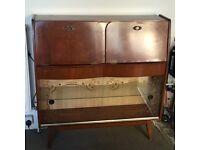 Vintage Retro Wood Credenza Sideboard