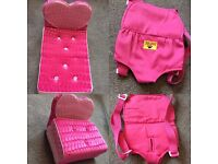 Build A Bear Chair/Bed and Bear Carrier