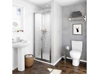1200x800 Tray with Bi-fold shower door