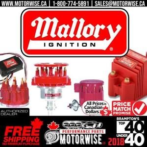 Mallory Ignition Performance Parts | Distributors, Coils, Cap/Rotors & More | Free Shipping | www.motorwise.ca