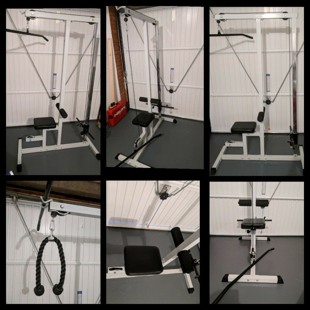 Multi gym lat pulldown multi workout machine