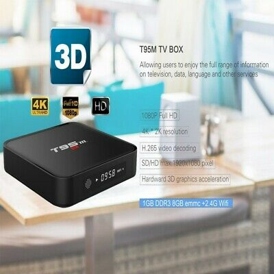 T95M Android TV Box 1+8GB Amlogic S905 Quad Core HDMI 4K WiFi 3D Meida Player