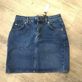 Top shop denim skirt size 6 new with tags