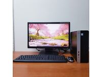 Complete HP PC Computer Windows 10, Intel Core i5-8500 16GB RAM 256GB SSD & 2TB HDD Wifi Office