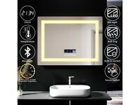 +SALE+ LED Touch Bluetooth Mirror Demister 800x600mm
