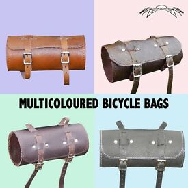New Bicycle Saddle Tool Bag Real Leather Vintage in Black, Brown, Blue, Olive FREE SHIPPING