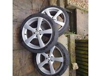 3 x vw golf 17'' alloys for sale.