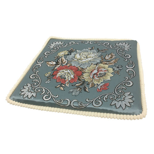 Upscale Chair Pads Cushion Floral Jacquard for Dining Garden