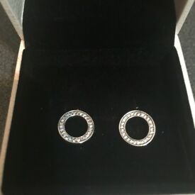 Hearts of pandora ear rings brand new really nice ear rings