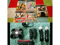 PS3 Move bundle with x5 games!!