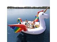 Giant Inflatable Unicorn - Floating Island & Pool