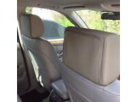 Grey leather TV headrest - DVD system