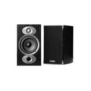 Polk Audio RTIA1 125-Watt Bookshelf Speakers - Black - Pair