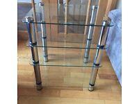 Excellent condition Optimum OPT-4000 4 shelf glass HIFI / AV table
