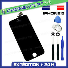 VITRE TACTILE IPHONE 5 + ECRAN LCD SUR CHASSIS + OUTILS + NOTICE