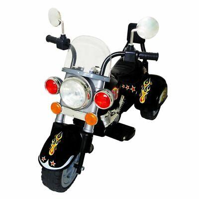 vidaXL Motocicleta de Batería de Niños Negra Moto Eléctrica Juguete Infantil