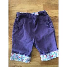 Jo Jo Maman Bebe 12-18 months girl trousers