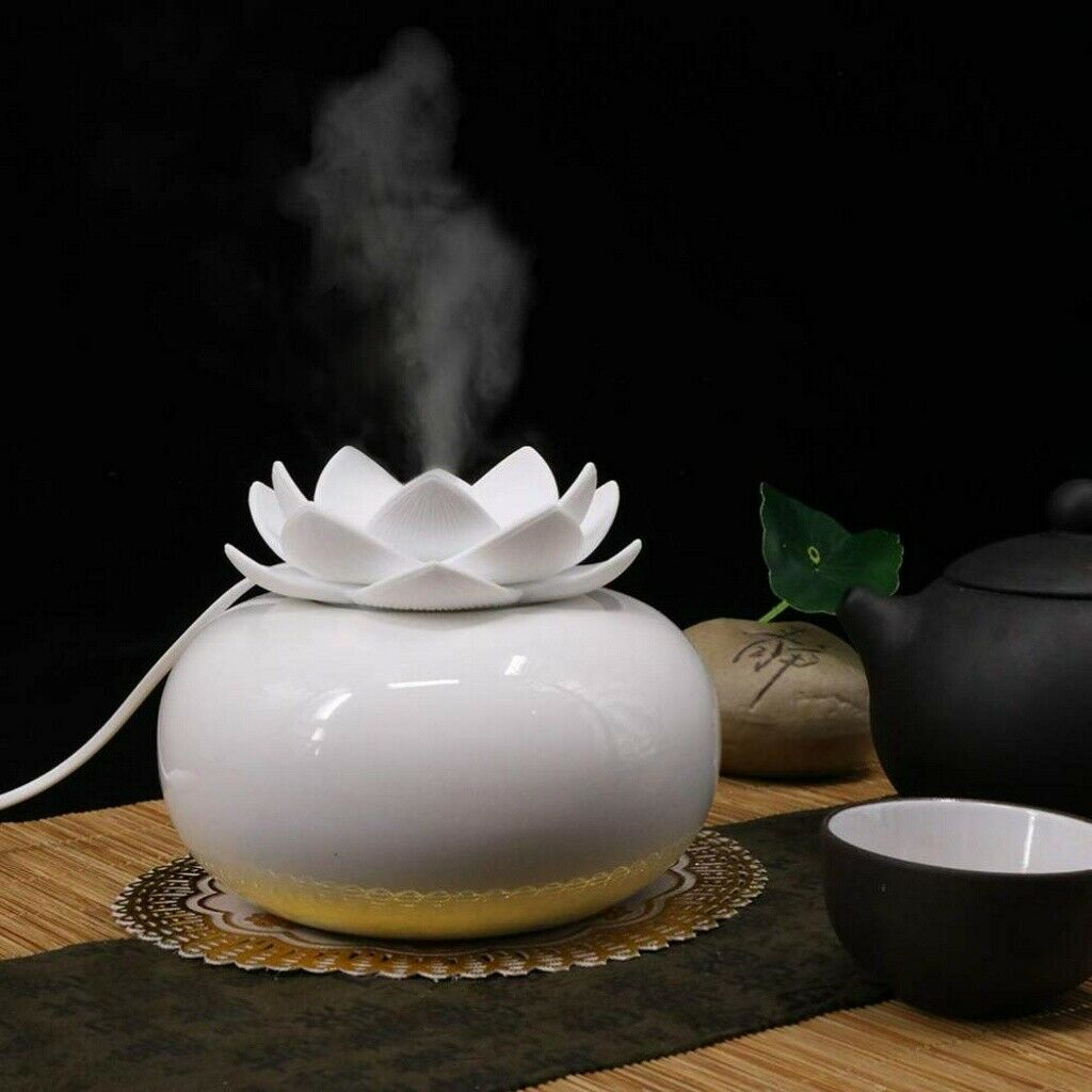 200ML Essential Oil Aroma Diffuser Lotus Aromatherapy Air Purifier Humidifier UK