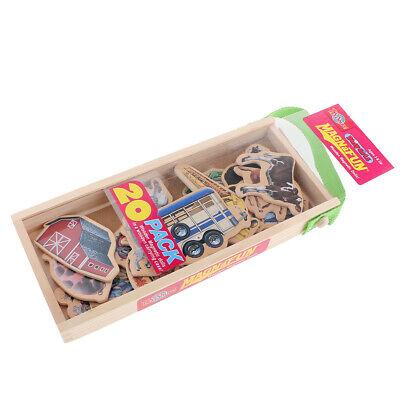 20 Stück Kinder Kühlschrankmagnete aus Holz Magnetspielzeug Lernspielzeug (Kühlschrank-magnete Lernen)