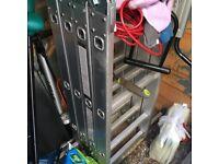 KMS 4.75M Multi Purpose Folding Aluminium Ladder - only used twice
