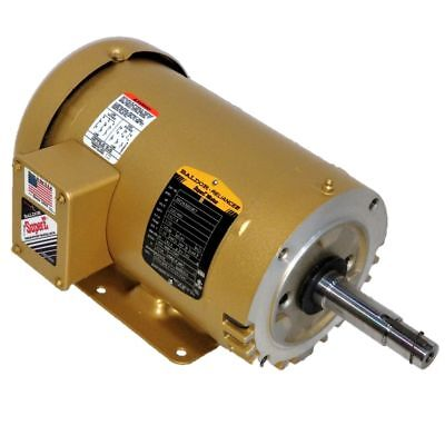 Baldor 1 Hp 1200 Rpm Odp 230460 Volts 145jm Footed 3 Phase Motor 35f243q029e7