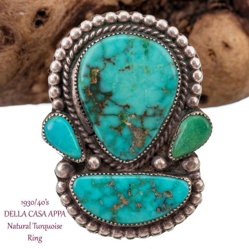DELLA CASA APPA Ring Turquoise Spiderweb 1930