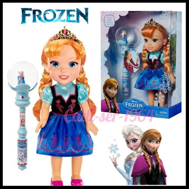 """Disney Frozen Toddler Anna Doll with Musical Snow Wand NEW Doll Musical 12.5"""""""