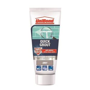 UniBond Kitchen Bathroom Triple Protect Anti-Mould Wall Tile Grout Tube - Grey