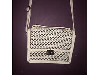White Patterned Shoulder Bag