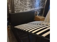 Ottoman Storage Bed - Double - As New - Black