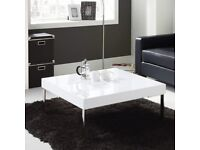 Gloss White Large Square Coffee Table