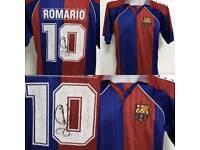 SIGNED FOOTBALL SHIRT ROMARIO