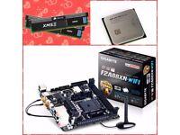 AMD A10 7800*GIGABYTE GA-F2A88XN-WIFI Mini Itx*8GB DDR3 * CPU MOTHERBOARD RAM*