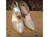 Next pale gold sparkly shoes size 4.5/37.5, new with tags