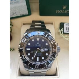BRAND NEW Rolex Deepsea Sea-Dweller D-Blue 116660 Steel James Cameron Watch