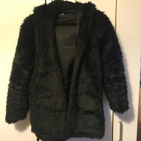 Black Fluffy Coat