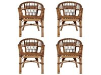 Outdoor Chairs 4 pcs Natural Rattan Brown-275843