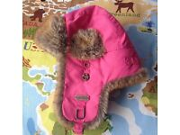 Bart's Pink Trapper Hat. Faux Fur Trimmed - Child's but fits up to small adult