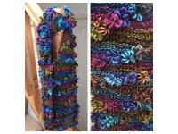 Hand knitted floral scarves ideal Mother's Day gifts