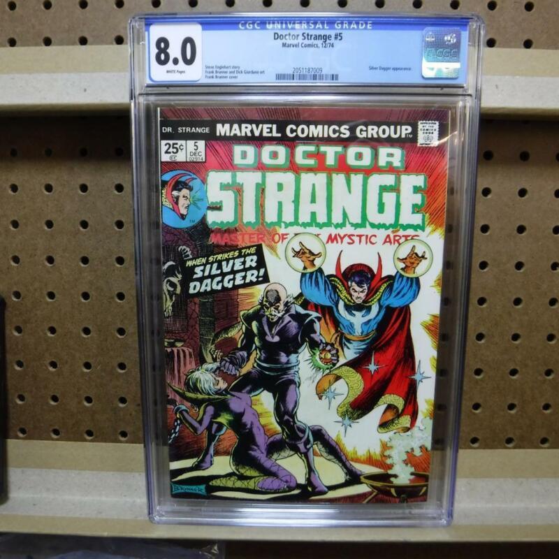 Dr. Strange 5 CGC 8.0 12/74 Silver Dagger  Appearance