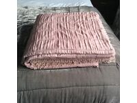 LAURA ASHLEY MIA DOUBLE BEDSPREAD IN CHALK PINK