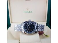 New Silver Black Rolex DateJust with Markers Comes Rolex Boxed with Paperwork