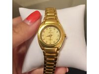 24K Gold Plated Watch Female