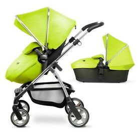 Reduced Silver cross wayfarer full travel system immaculate lime green make offer must go