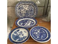 Vintage Willow Pattern Blue & White Collection